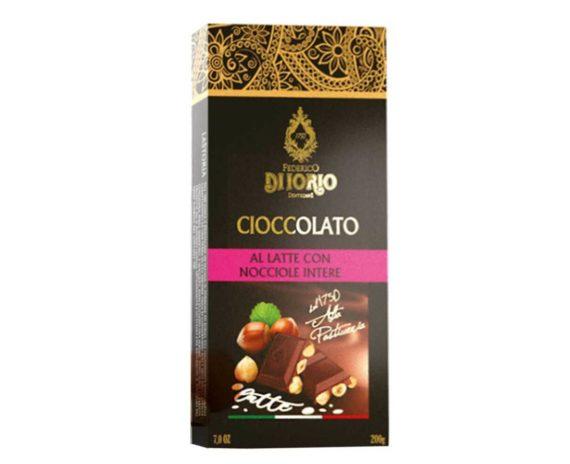 Cioccolato al latte con nocciole intere Di Iorio 100gr