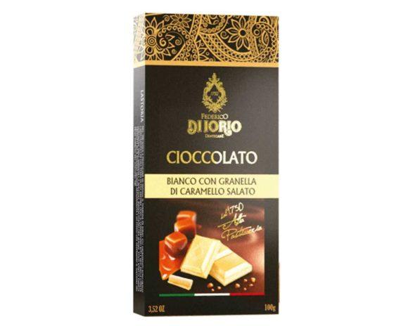 Cioccolato bianco con granella di caramello salato Di Iorio 100gr