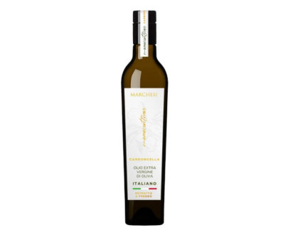 Olio evo italiano monocultivar Carboncella marchesi 0,5lt
