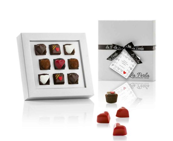 Praline e tartufi di cioccolato assortiti per San Valentino La Perla 60gr
