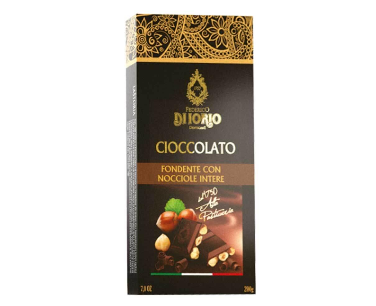 Cioccolato fondente con nocciole intere Di Iorio 100gr