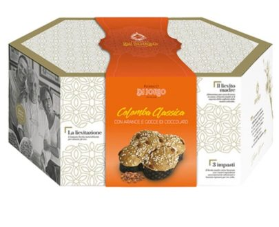Colomba Pasquale Artigianale Classica con canditi e uvetta Di Iorio 1kg