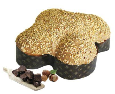 Colomba Pasquale Artigianale pandorata nocciola e cioccolato Di Iorio 1kg