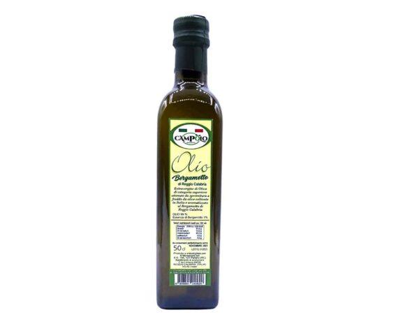 Olio extravergine d'oliva aromatizzato al bergamotto Campolo 500ml