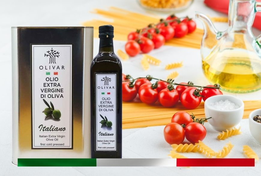 Olio extravergine d'oliva italiano Olivar: l'olio evo per la dieta mediterranea.