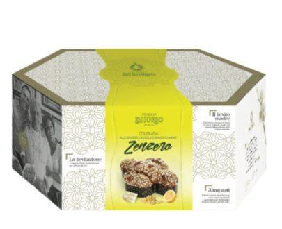 Colomba Pasquale Artigianale allo zenzero, cioccolato bianco e limone Di Iorio 1kg