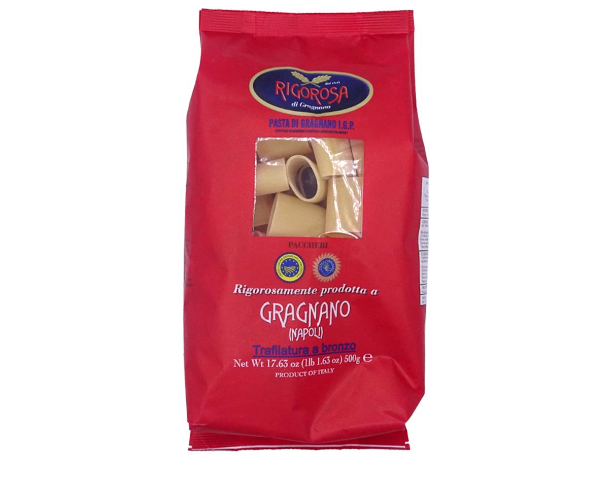 Paccheri pasta di Gragnano IGP Rigorosa 500gr