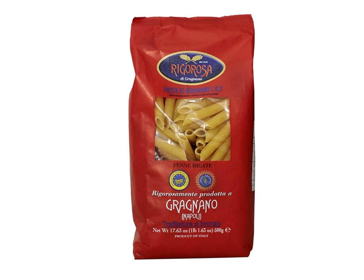 Penne rigate pasta di Gragnano IGP Rigorosa 500gr