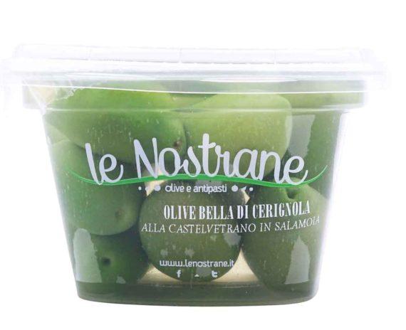 Olive verdi Bella di Cerignola in salamoia Le Nostrane 200gr