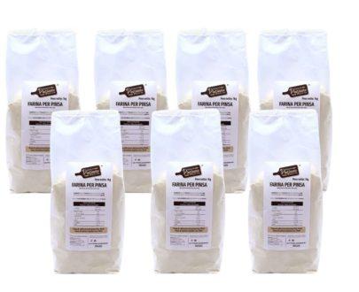 7 confezioni Farina per Pinsa con lievito madre Pinsiamo 1kg