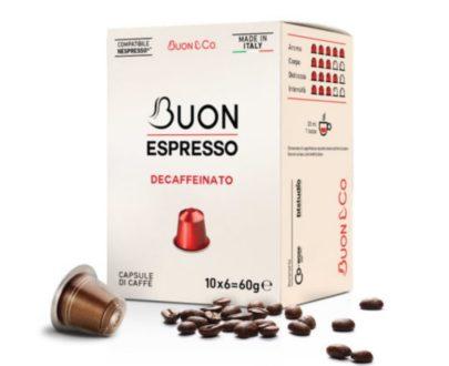 "10 capsule caffè gusto ""dek"" compatibili Nespresso"