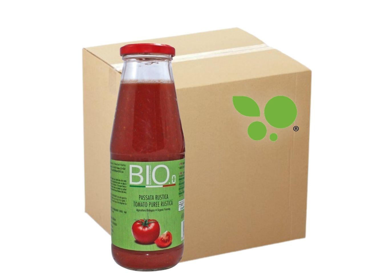 12 confezioni Passata di pomodoro Bio rustica Gestal 680gr