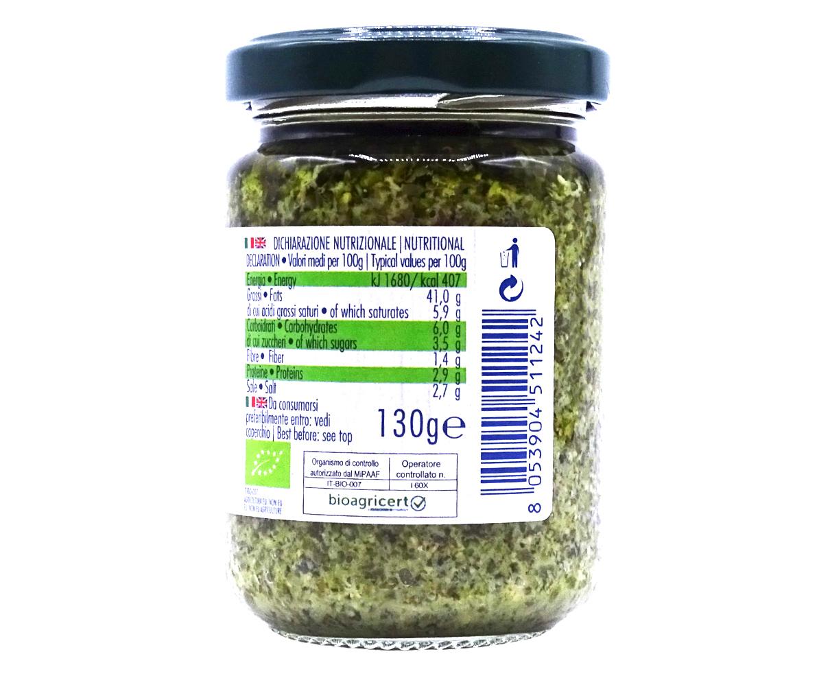 Pesto genovese Bio Gestal 130gr