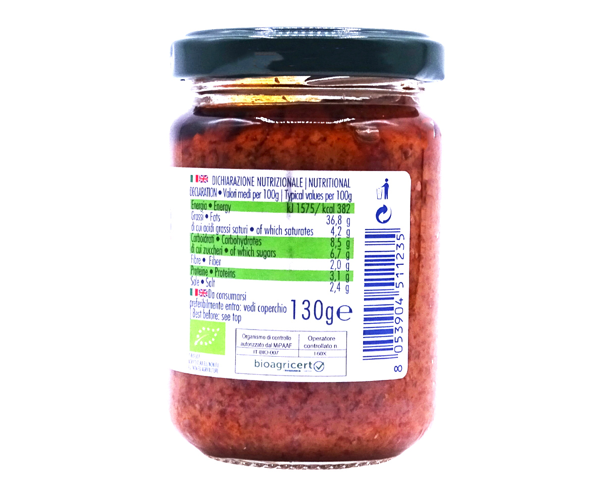 Pesto rosso Bio Gestal 130gr