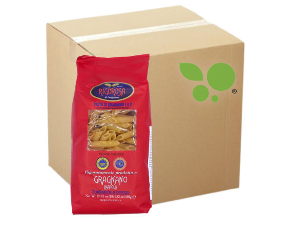10 confezioni di Penne rigate pasta di Gragnano IGP Rigorosa 500gr