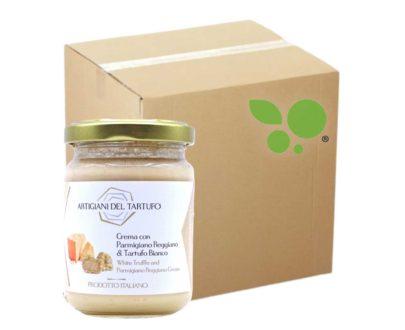 12 confezioni di Crema al Parmigiano Reggiano e tartufo bianco 130gr