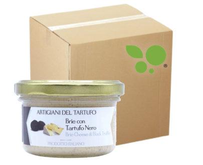 12 confezioni di Crema di formaggio brie con tartufo nero Artigiani del Tartufo 90gr