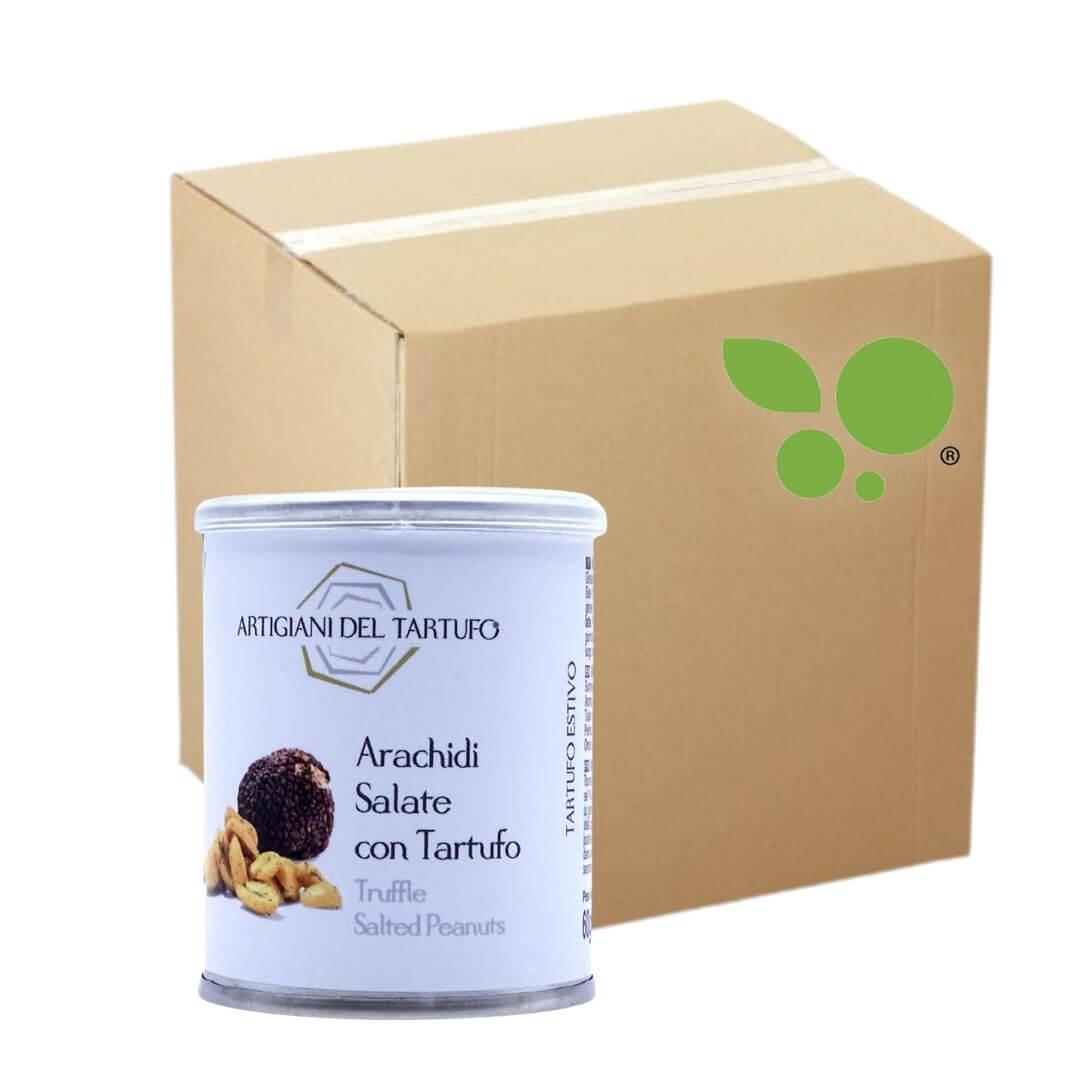21 confezioni di Arachidi salate con tartufo nero Artigiani del Tartufo 60gr