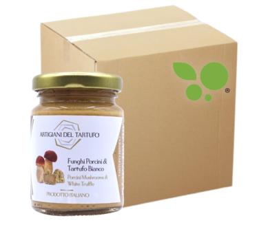 12 confezioni di Crema di funghi porcini e tartufo bianco 90gr