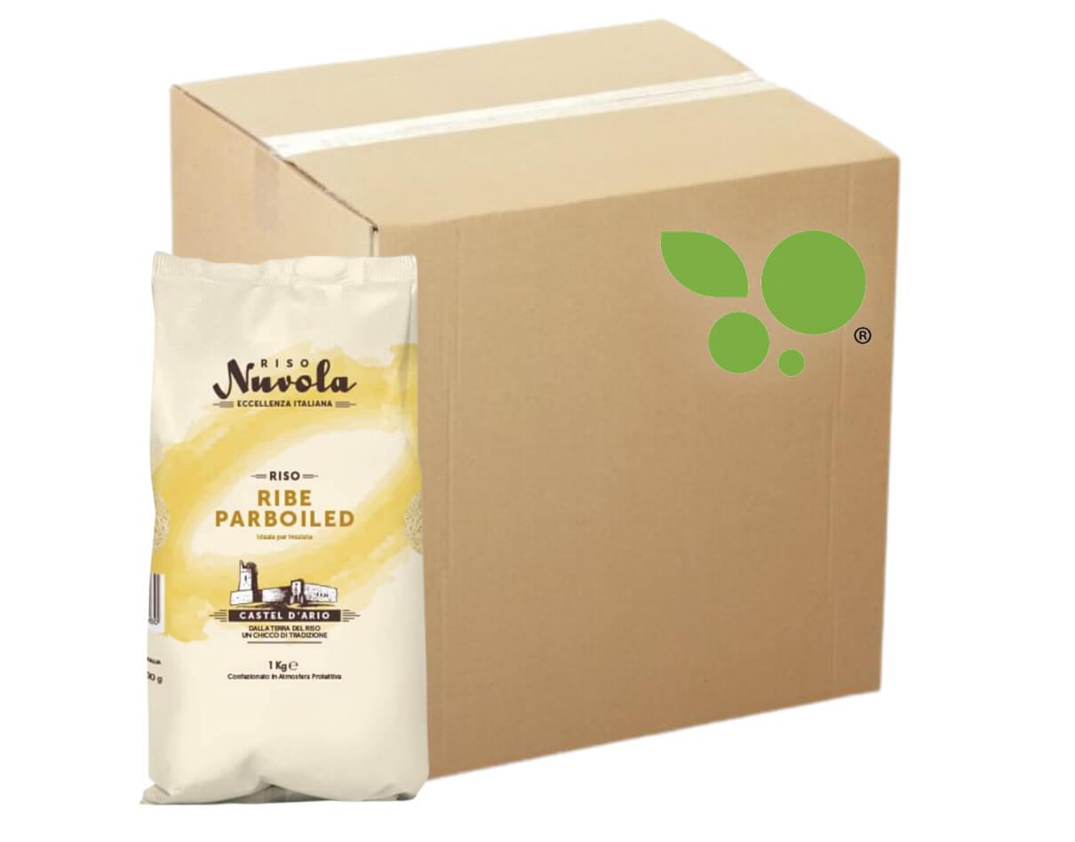 12 confezioni di Riso parboiled Nuvola 1kg