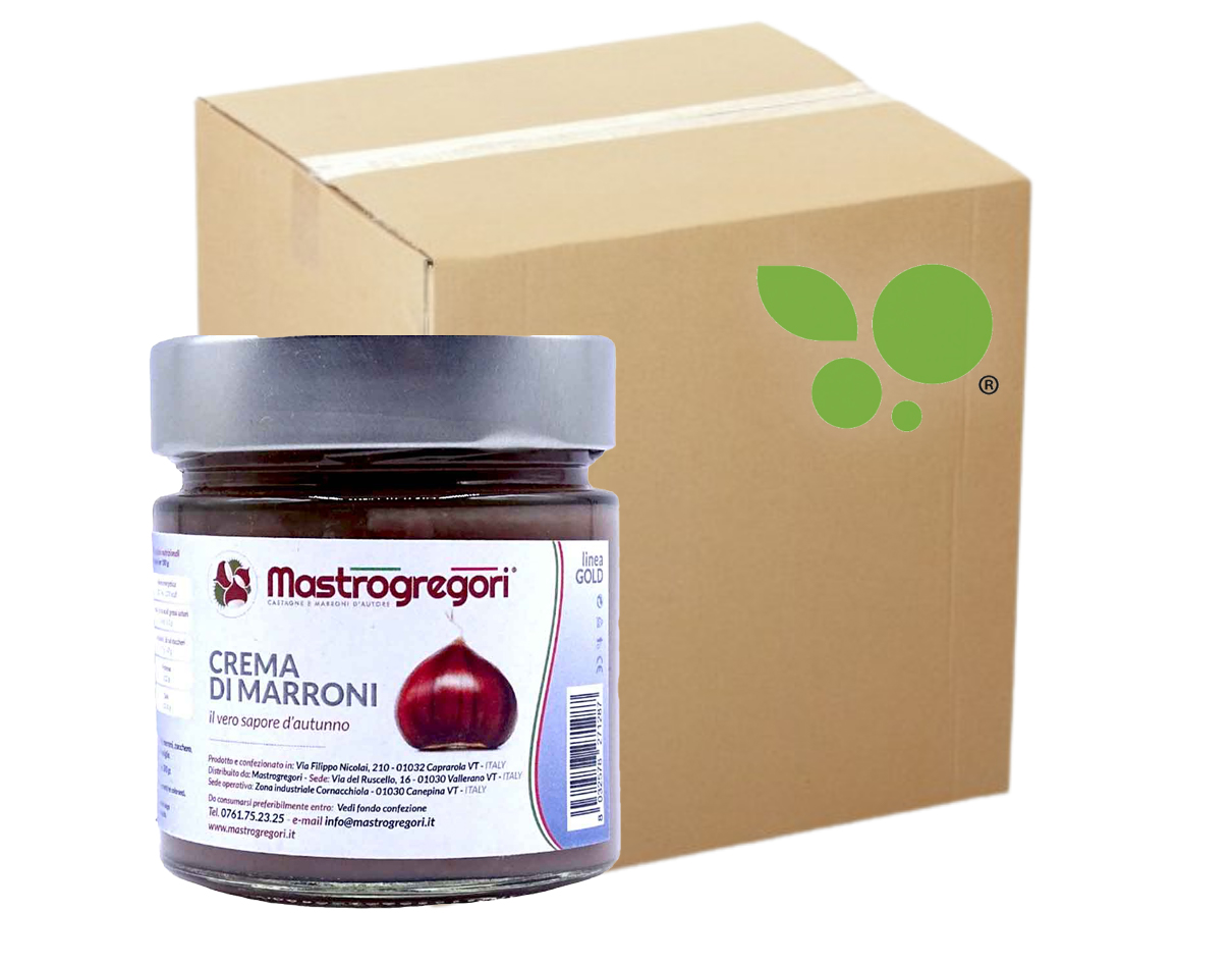 15 confezioni di Crema di marroni Mastrogregori 280gr