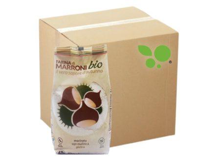 20 confezioni di farina di marroni bio macinata a pietra Mastrogregori 400gr