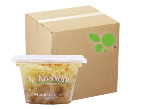 12 confezioni di melanzane a filetti Le Nostrane 200gr