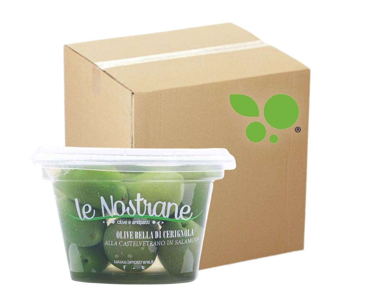 12 confezioni di olive verdi Bella di Cerignola in salamoia Le Nostrane 200gr