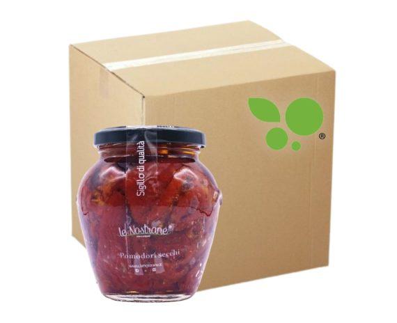 12 confezioni di pomodori secchi italiani in vetro Le Nostrane 290gr