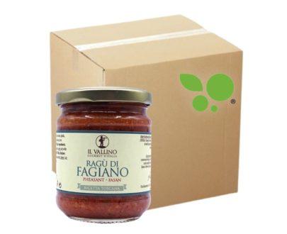 6 confezioni di ragù di fagiano Il Vallino 180gr
